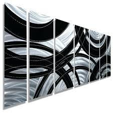 black iron wall decor contemporary silver and black panel metal wall art crossroads black metal star
