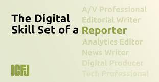 Professional Skill Set The Digital Skill Set Of A Reporter