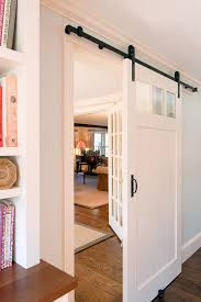 artistic pantry door glass decorating ideas spaces traditional with barn door pole house