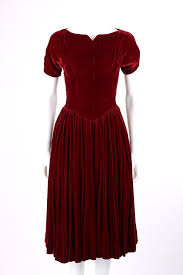 Vtg COUTURE c.1930's Wine Red Silk Velvet Short Sleeve Cocktail Evening  Dress | Evening dresses short, 1930s dress evening, Cocktail evening dresses