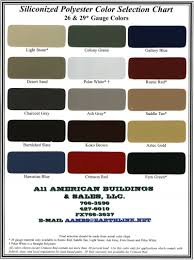 American Buildings Company Color Chart