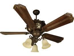 craftmade toscana peruvian bronze four light 56 inch wide ceiling fan with chamberlain walnut blades