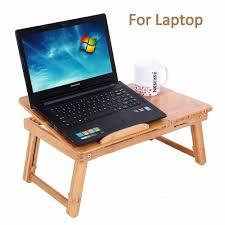 aingoo 100 bamboo laptop standing desk foldable breakfast serving bed tray living room computer desk aliexpresscom buy foldable office table desk