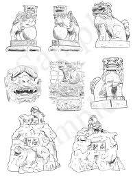 神社の解剖図鑑 エクスナレッジ刊 狛犬 イラスト 鉛筆画 下北沢