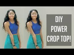 Crop Top Sewing Pattern Enchanting ✂ DIY AA Inspired Power Crop Top [Sewing] Super Easy ✂ YouTube
