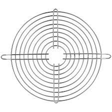 Fan grill for 4 5 8 fans chrome