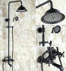 bronze shower head oil rubbed bronze shower head extension arm