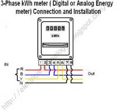 single phase watt hour meter circuit diagram images how to wire 3 phase kwh meter electrical technology