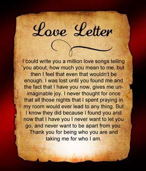 cute love letter for boyfriend