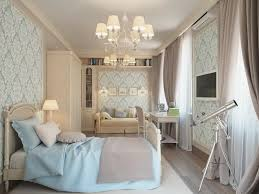 Designing A Young Womans Bedroom With Luxury Interior Ideas And Modern  White Wardrobe Also Using Tv On Wall