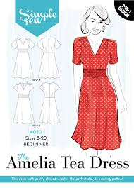 Simple Dress Pattern For Beginners Mesmerizing The Simple Sew Amelia Tea Dress