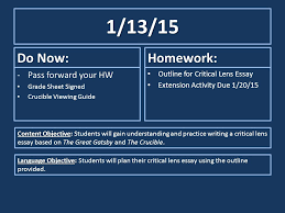 do now pass forward your hw grade sheet signed crucible  1