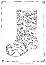 Small Picture Coloring Pages Christmas Stocking To Color Free Printable