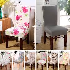 colorful elastic seat cover dining room chair seat cover decor tool
