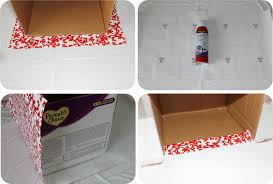 diy how to recycle cardboard boxes into pretty storage boxes with editable labels catch my party