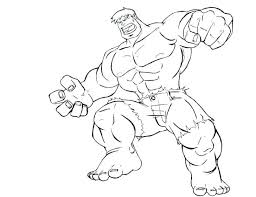 Hulk Coloring Pages Free Online Hulkbuster Sheets Lego Incredible