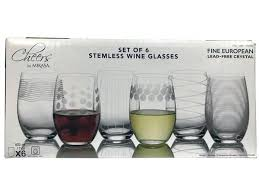 stemless wine glasses crystal cheers by stemless wine glasses fine crystal 6 pa premium waterford crystal