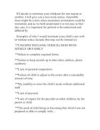 Daycare Termination Sample Withdrawal Letter For Business Child Care