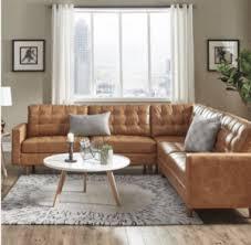 farmhouse style sofa. Leather Sectional Farmhouse Style Sofa U