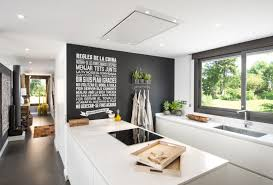 kitchen wall decor ideas permanent writing sliding glass window white kitchen cabinet black wall undermount sink