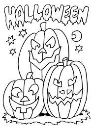 Halloween Pompoen Kleurplaten En Halloween Kleurplaten Pompoen