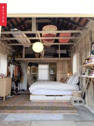 convert sunroom to master bedroom elegant before after from grimy garage to glamping bedroom