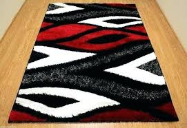 red area rugs contemporary modern black and