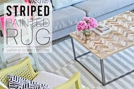 Diy Rug Sarah M Dorsey Designs Diy Striped Painted Rug In About 25 Hours