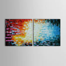 hand painted oil painting coffee house painting set of 2 abstract canvas art on abstract wall art set of 2 with hand painted oil painting coffee house painting set of 2 abstract
