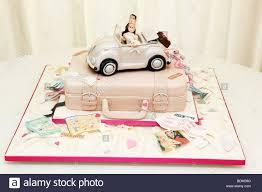 Unusual Different Wedding Cake Design Soft Top Volkswagen Beetle Car