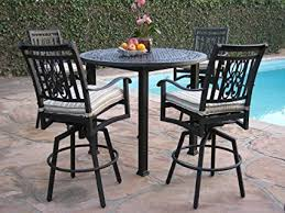 cast aluminum patio chairs. Heaven Collection Outdoor Cast Aluminum Patio Furniture 5 Piece Bar Stool 48\u0026quot; Table Set With Chairs S