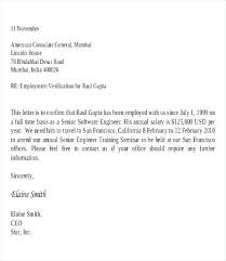 Letter Employment Employee Salary Verification Letter Proof Of Employment