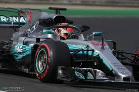 George Russell test the Halo, Mercedes ...