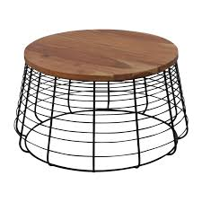 72 off cb2 cb2 round wire coffee table tables rh furnishare com white wood round table
