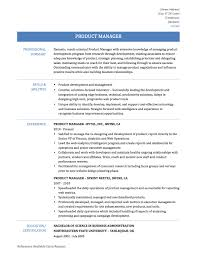 Resume Of Product Manager Resume For Study