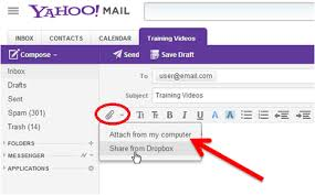 Yahoo Mail Lets You To Attach Files To Send Them To The