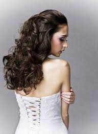 Curly Hair Style Up wedding hairstyles ideas three small buns curly half up wedding 6055 by wearticles.com