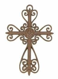 iron wall cross love: quot cast iron wall cross floral and scrolls medium by homeoffice  medium