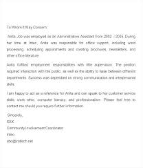 Job Recommendation Letter Template Word Of Reference Example