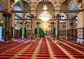 من داخل المُصلّى القبلي، في المسجد الأقصى المبارك.. رمضان   2020..