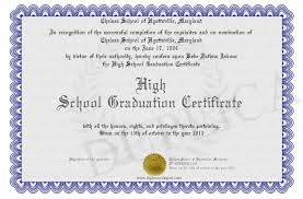 Example Of Certificate Of Completi Sample High School Graduation