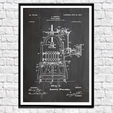 wine press patent poster wine poster wine decor wine wall art wine bar decor wine art print wine gift vintage wine poster wb134  on wine bar wall art with wine press patent poster wine poster wine decor wine wall art wine