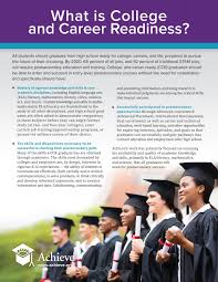 college and career readiness achieve what is college and career readiness