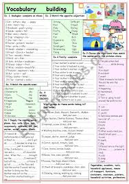 Vocab Building Worksheets Vocabulary Building Esl Worksheet By Lilianarota
