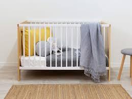 compact nursery furniture. Mocka Aspiring Cot - White/Natural Compact Nursery Furniture