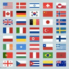 Set Di 40 Icone Di Bandiere Mondiali Stati Uniti Portogallo Israele  Svizzera Canada Germania Corea Del Sud Cina Gran Bretagna Russia Brasile  Giappone Francia Italia Paesi Bassi Turchia Illustrazione - Immagini  vettoriali