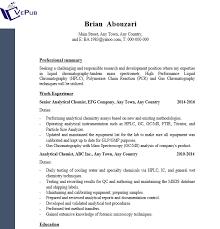 Analytical Chemist Resume Analytical Chemist Resume Business Service Vepub