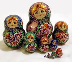 matryoshka nesting handmade wooden dolls with bright flowers painting 10pc 44 95 usd globebids