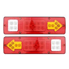 Rv Running Light Switch Us 5 49 Mansuo 1pair Rv Atv Truck 19 Led Red White Amber Integrated Trailer Tail Lights Turn Signal Running Lamp 12v In Rv Parts Accessories From