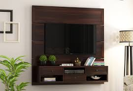 snapple wall mount tv unit walnut
